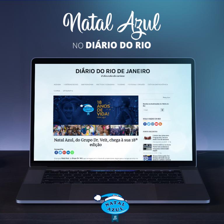 Natal Azul no Diário do Rio